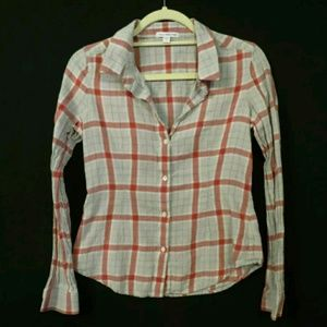 Standard James Perse Size 2 (medium) Red plaid